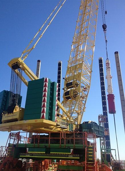三一履带吊车300吨施工