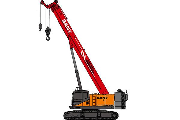 三一55噸履帶吊車——SCC550TB伸縮臂履帶起重機