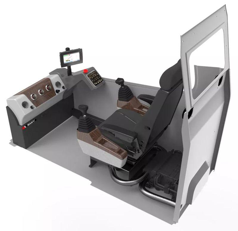 三一STC250T汽车吊操作室